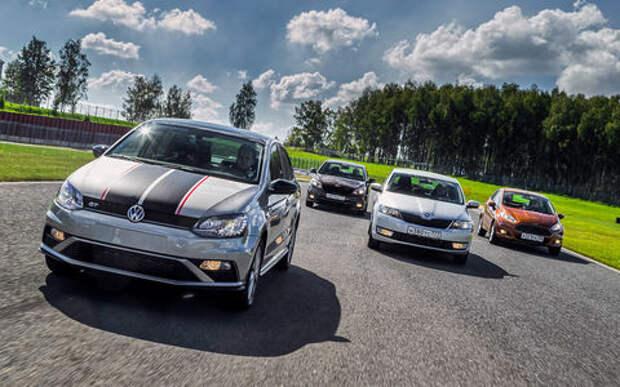 VW Polo GT против конкурентов: тест на «Смоленском кольце»