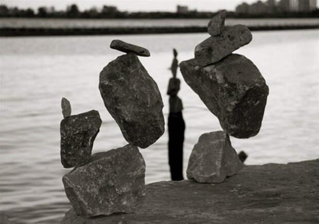 Ростовчанин открыл всебе редкий талант балансировать камни