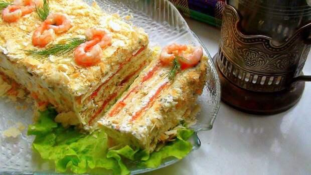 Закусочный торт: аппетитный, вкусный и очень красивый!