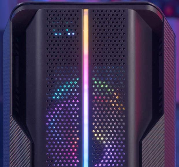 Корпус Aerocool Splinter Duo получил фронтальную панель с отделкой под углеродное волокно