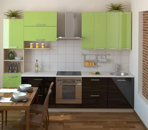 Хороший вариант оформить интерьер кухни в кофейно-оливковых тонах, что станет прекрасным вариантом для преображения интерьера.