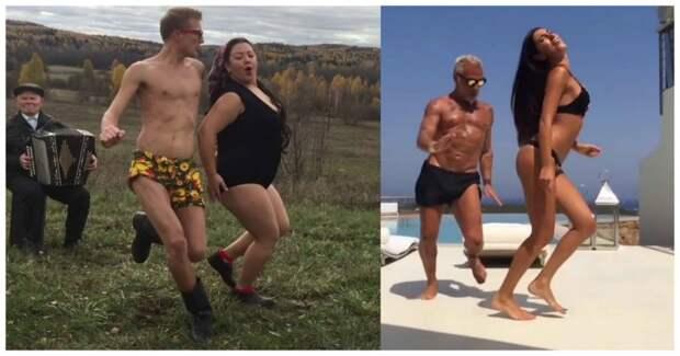 Наш ответ итальянскому миллионеру! «Боня и Кузьмич» сняли пародию на танцующего бизнесмена Bonya&kuzmich, видео, миллионер, прикол