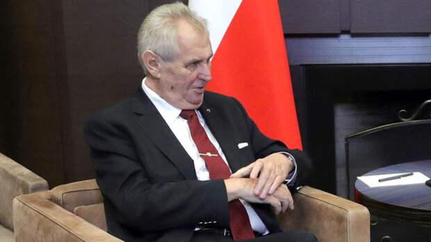 Милош Земан раскритиковал включение Чехии в черный список России