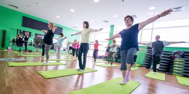 На Песчаной улице проходят бесплатные занятия по йоге для пенсионеров