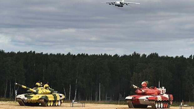 Россия одержала победу в конкурсе «Танковый биатлон» на АрМИ-2021
