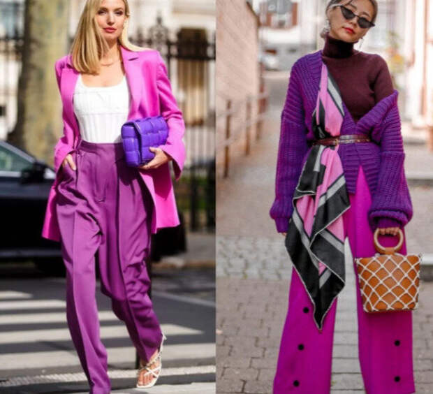 Модные сочетания цветов на лето 2021.