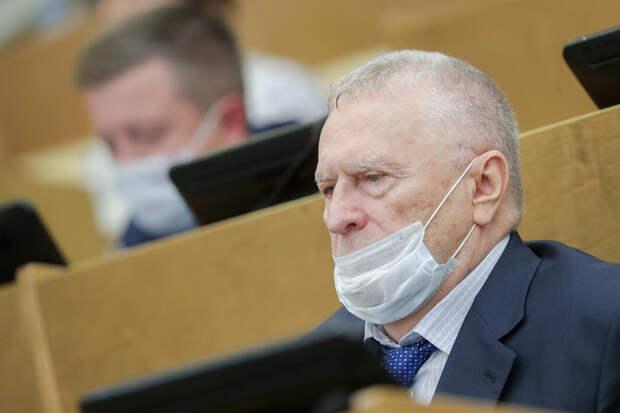 Жириновский пожаловался на отсутствие масок у коммунистов