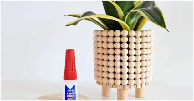 Красивый способ использования деревянных бусин