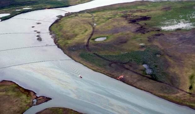 Следы нефти врайоне прошлогоднего разлива топлива вНорильске обнаружил Росприроднадзор