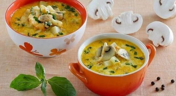 Сырный суп с грибами и фаршем: это так просто и вкусно!
