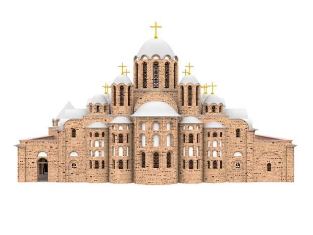 Реконструкция средневекового собора Святой Софии