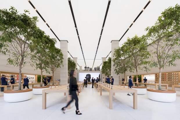 Обновление магазина Apple на Риджент-Стрит в Лондоне