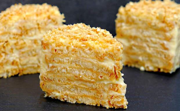 Торт Наполеон без выпечки и сковородок: собираем из печенья и крема