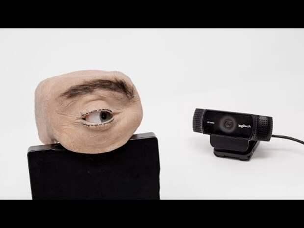 Марк Тейсье создал жуткую камеру видеонаблюдения в виде глаза человека. Видео