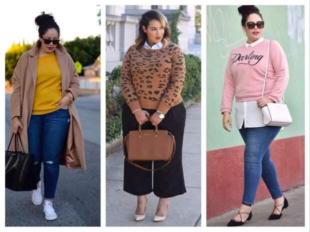 свитера и свитшоты для полных
