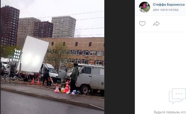 На Донецкой улице киношники снимали очередной сериал