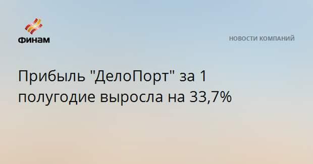 """Прибыль """"ДелоПорт"""" за 1 полугодие выросла на 33,7%"""