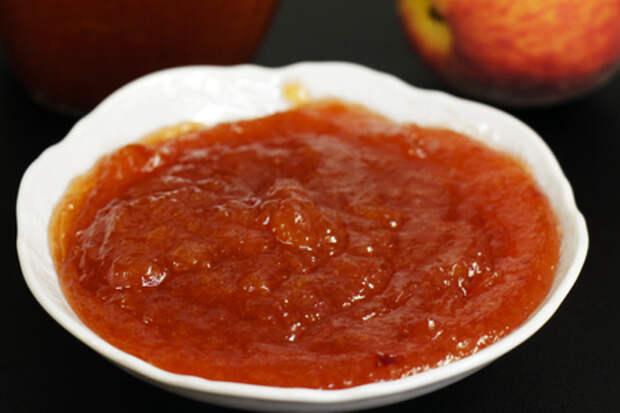 Фото к рецепту: Густой персиковый джем с пектином, рецепт на зиму