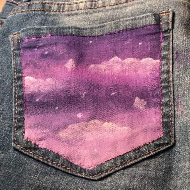 Рисунки по джинсе (подборка)