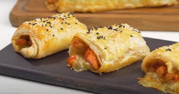 Вкуснейшие рулеты с сырно-мясной начинкой