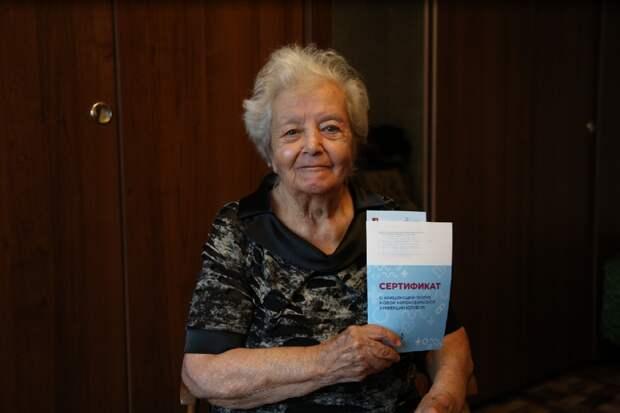 Пенсионерка из Бабушкинского после вакцинации от COVID-19 вернулась к активной жизни