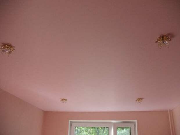 матовый натяжной потолок в цвет стен