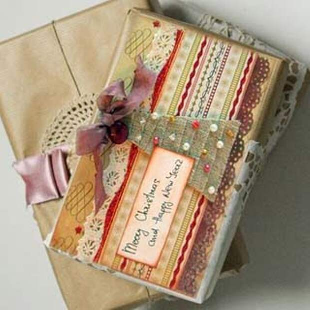 Ткань в упаковке подарков