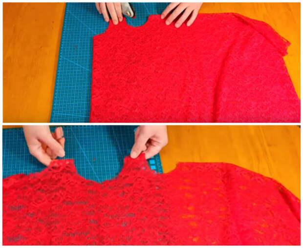Красивое и очень простое платье, которое можно сшить без выкройки
