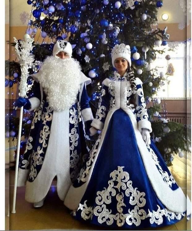 Дед Мороз и Снегурочка, как-будто вышли из сказки!