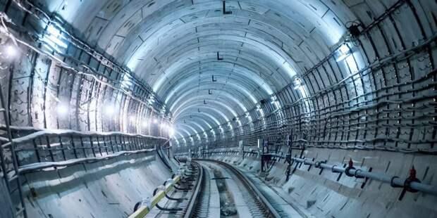 Собянин осмотрел ход строительства станции метро «Лианозово». Фото: Е.Самарин, mos.ru