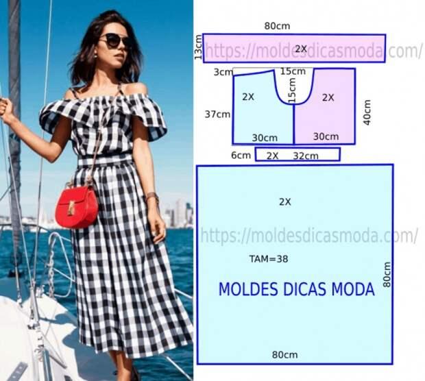 Ну очень простая выкройка летнего платья