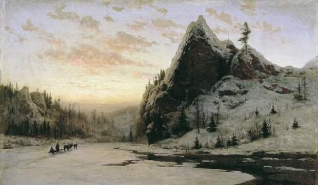 На Урале. (1888 год). Художник: Владимир Казанцев.