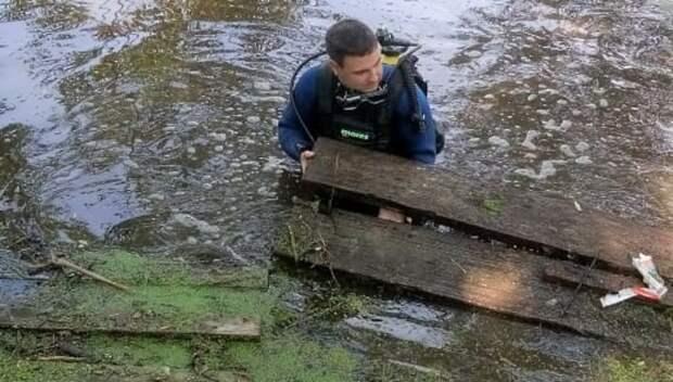 Водолазы очистили дно акватории возле 7 мест отдыха у воды в Подольске