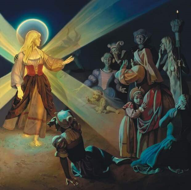 По слухам, у ведьм были даже свои святые. Конечно же, мнимые. Картина Николая Бессонова.