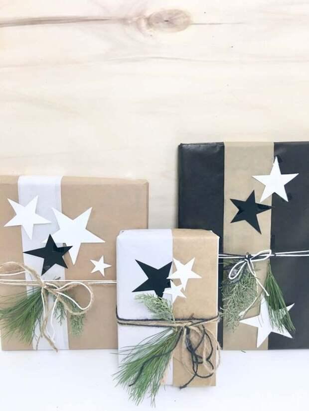 Упаковка подарков с цветами (подборка)