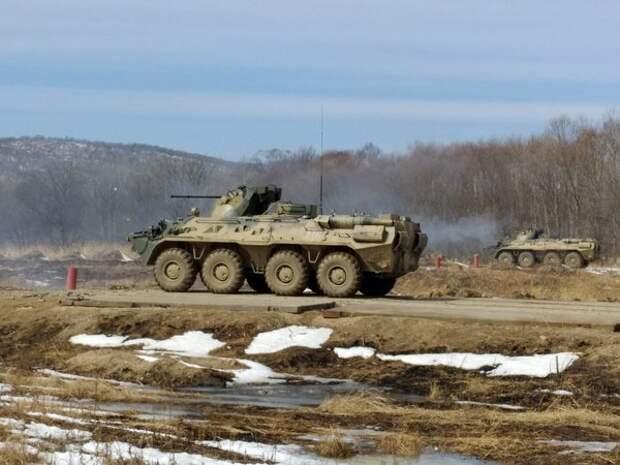 БТР с российскими военными опрокинулся в ущелье в Абхазии
