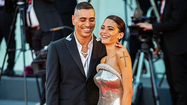 Итальянский музыкальный продюсер, рэпер Фабио Риццо (Marracash) и певица Элоди (Elodie)