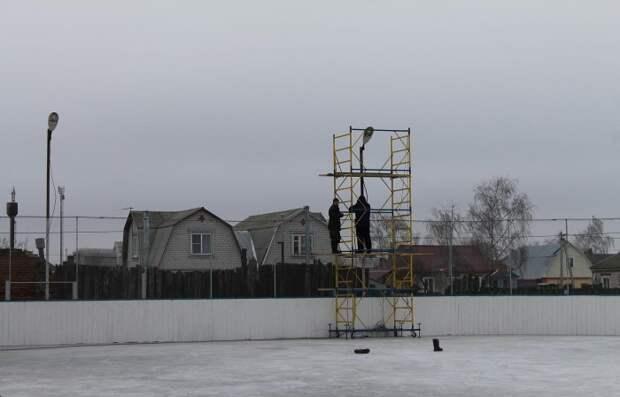 Хоккейная площадка собственными силами площадка, хоккей