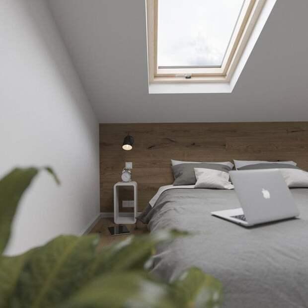 Фотография: Спальня в стиле Скандинавский, Квартира, Студия, Проект недели, Сочи, 2 комнаты, 40-60 метров, Антон Сухарев – фото на InMyRoom.ru
