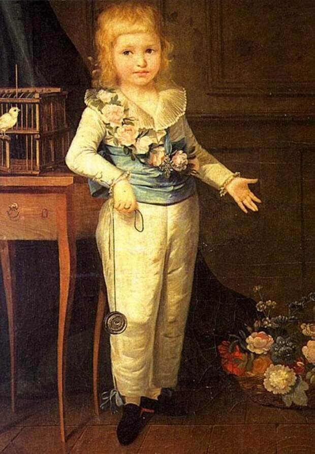 Портрет Луи Шарля в ранние годы. Художница: Элизабет-Луиза Виже-Лебрён.