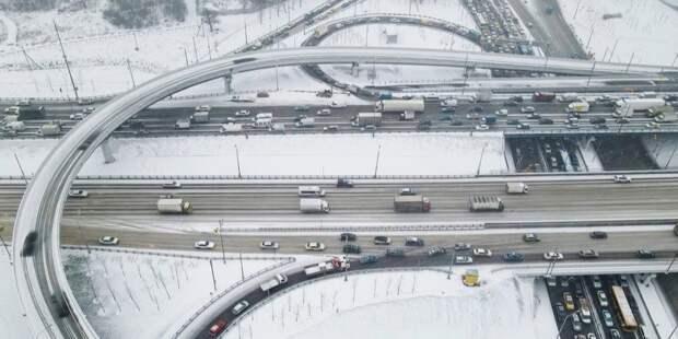 Путин открыл путепровод через Ленинградское шоссе