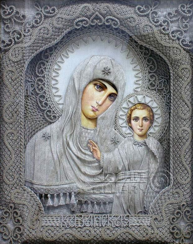 Чудо иконы из льна художника Владимира Денщикова