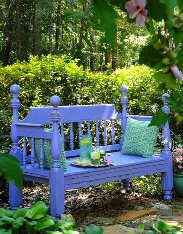Летнее настроение. Садовые скамейки на любой вкус