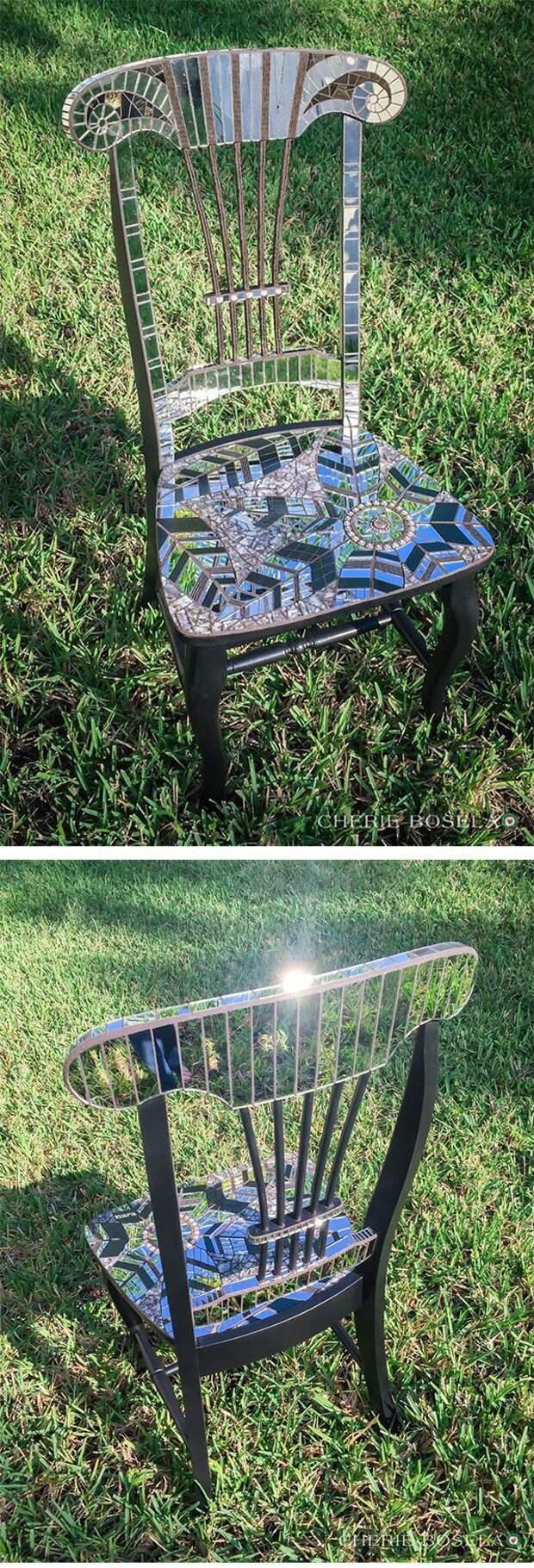 Зеркальный стул