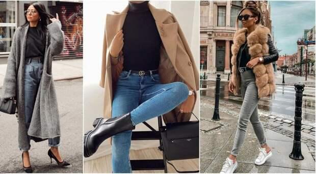 Королева денима: 11 способов стильно носить джинсовые вещи осенью 2020