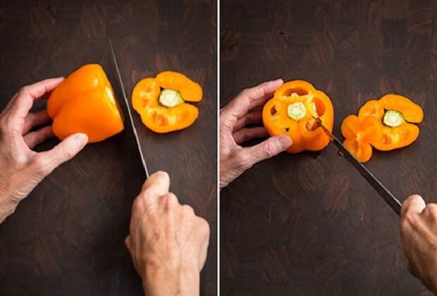 разрезать перец фото