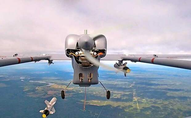 Российский разведывательный БПЛА стал ударным, применив КАБ-20