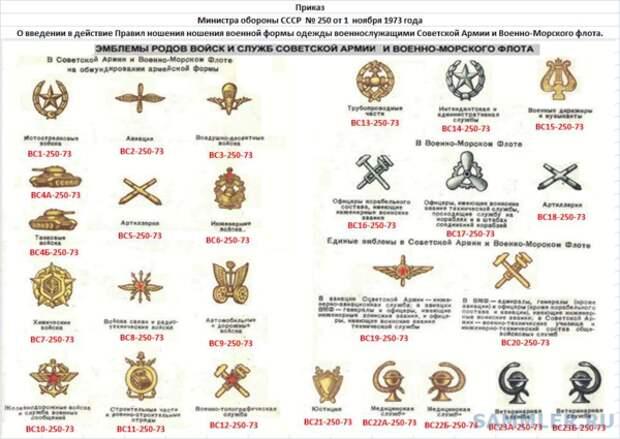 1973 год. Уже есть отдельная эмблема на химвойска и стройбат.