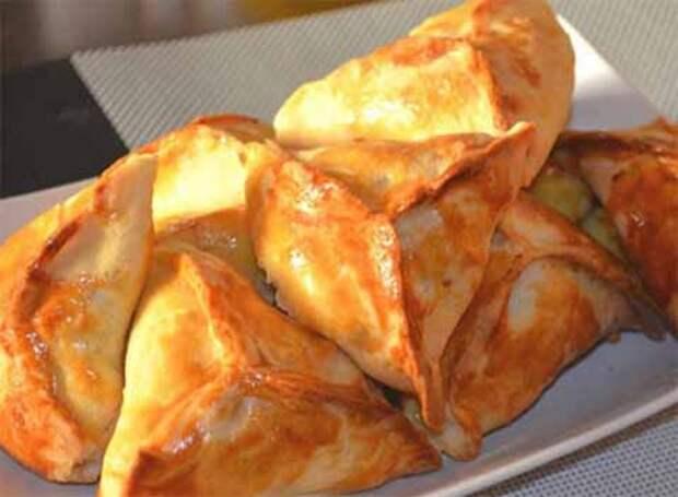 треугольные пирожки с мясом