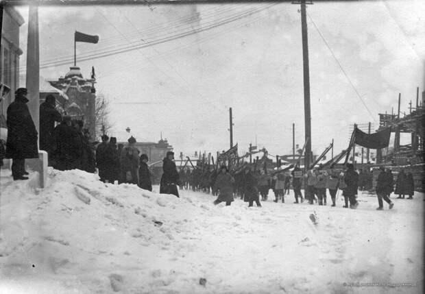 1928. Старт агитпохода на лыжах история, ретро, фото